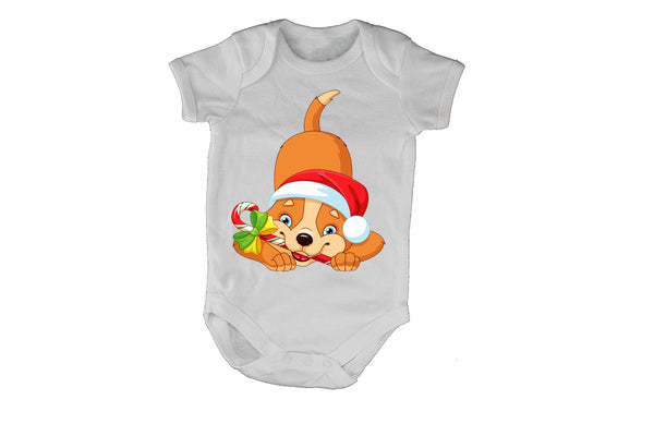 Christmas Candy Cane Dog - Baby Grow - BuyAbility South Africa