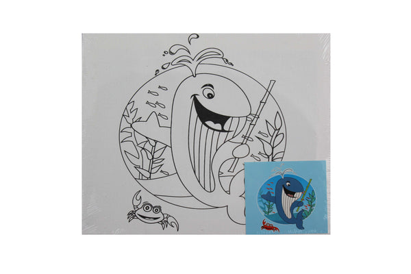 Whale - Canvas Painting Activity