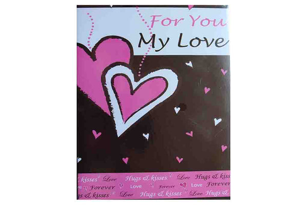 For You my Love (Hugs & Kisses), Valentines Card