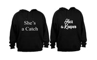 She's a Catch & He's a Keeper - Couples Hoodies (1 Set) - BuyAbility South Africa