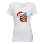 Christmas Sloth - Ladies - T-Shirt - BuyAbility South Africa