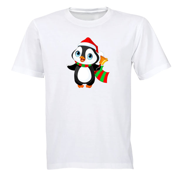 Christmas Bell Penguin - Kids T-Shirt - BuyAbility South Africa