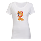 Christmas Puppy - Ladies - T-Shirt - BuyAbility South Africa