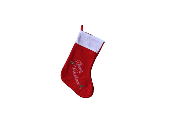 Red 'Merry Christmas' Stocking (340mm x 250mm) - BuyAbility South Africa