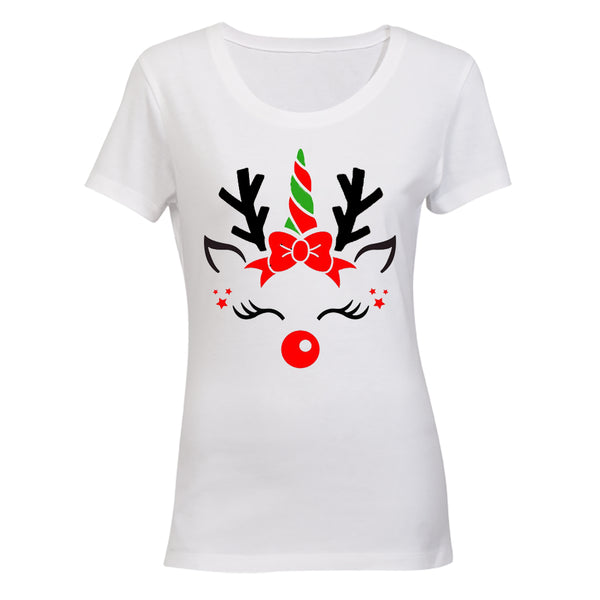Christmas Reindeer - Ladies - T-Shirt - BuyAbility South Africa
