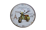Motorcycles Custom Special, Paris Theme Wall Clock - BuyAbility South Africa