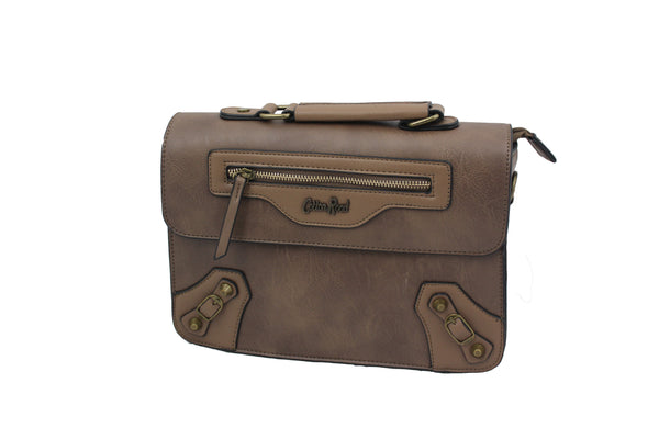 Brown Leather Inspired Bag - BuyAbility South Africa