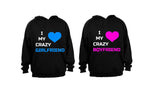 CRAZY Couple! - Couples Hoodies (1 Set) - BuyAbility South Africa