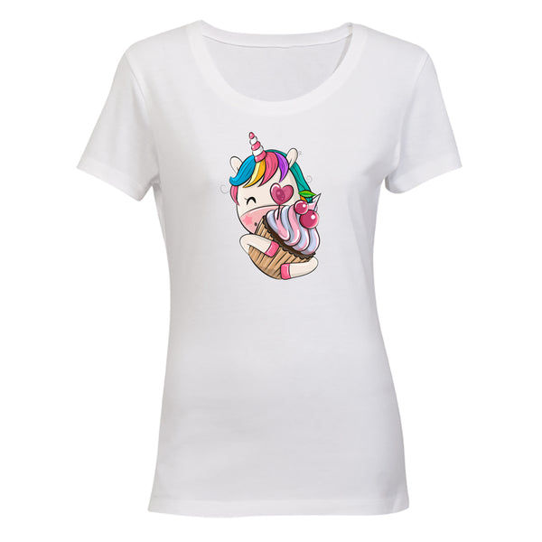 Cupcake Unicorn - Ladies - T-Shirt - BuyAbility South Africa