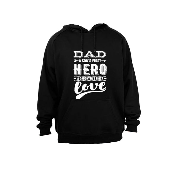 Dad - Son's First Hero - Hoodie - BuyAbility South Africa