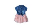 Denim with Pink Tutu Dress - BuyAbility South Africa