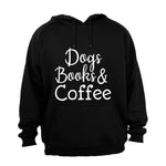 Dogs, Books & Coffee - Hoodie - BuyAbility South Africa