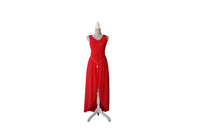 Red Cocktail Dress With Long Tail (With Gold Belt Accessory) - BuyAbility South Africa