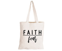 Faith over Fear - Eco-Cotton Natural Fibre Bag - BuyAbility South Africa