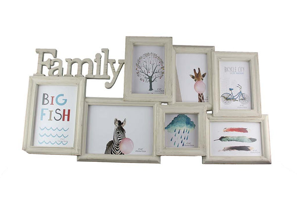 Large Family Photo Frame with space for 7 Photos (650mm x 340mm) - BuyAbility South Africa