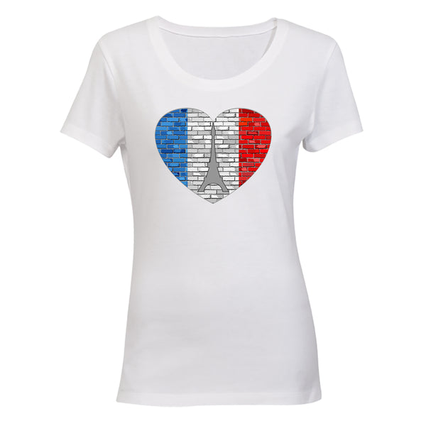 French Flag Inspired - Ladies - T-Shirt - BuyAbility South Africa
