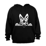 German Shepherd Peeking - Hoodie - BuyAbility South Africa