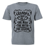 Grandpa - The Man. Myth. Legend - Adults - T-Shirt - BuyAbility South Africa