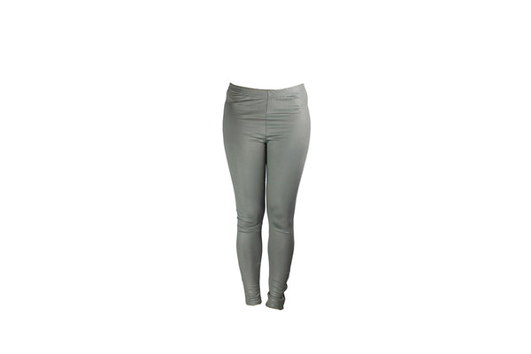 Grey Leggings With Ankle Zipper