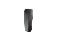 Long Grey Pencil Skirt with Silver Belt Accessory - BuyAbility South Africa