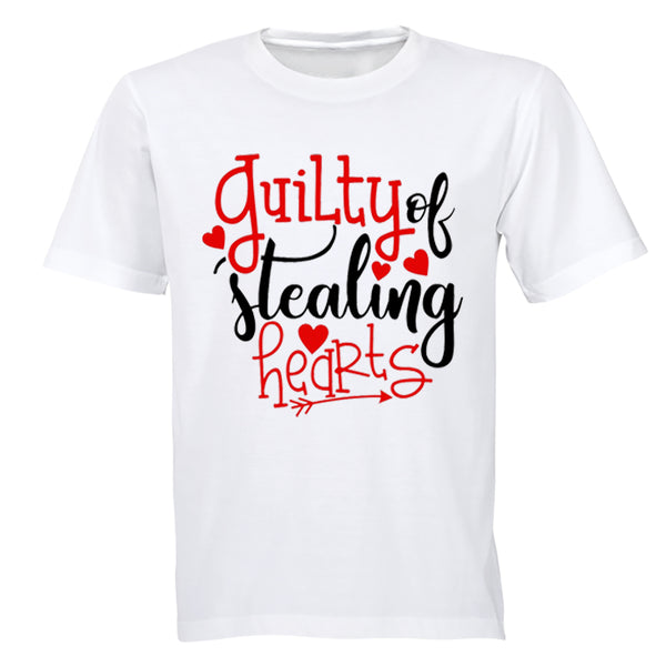 Guilty of Stealing Hearts - Valentine - Kids T-Shirt - BuyAbility South Africa