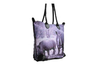 Rhino Print Cotton Road Handbag - BuyAbility South Africa