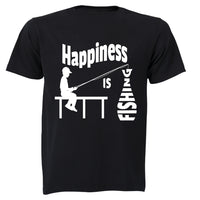 Happiness is Fishing - Adults - T-Shirt - BuyAbility South Africa