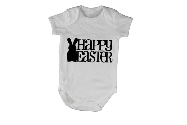 Happy Easter - Bunny Silhouette - Baby Grow - BuyAbility South Africa