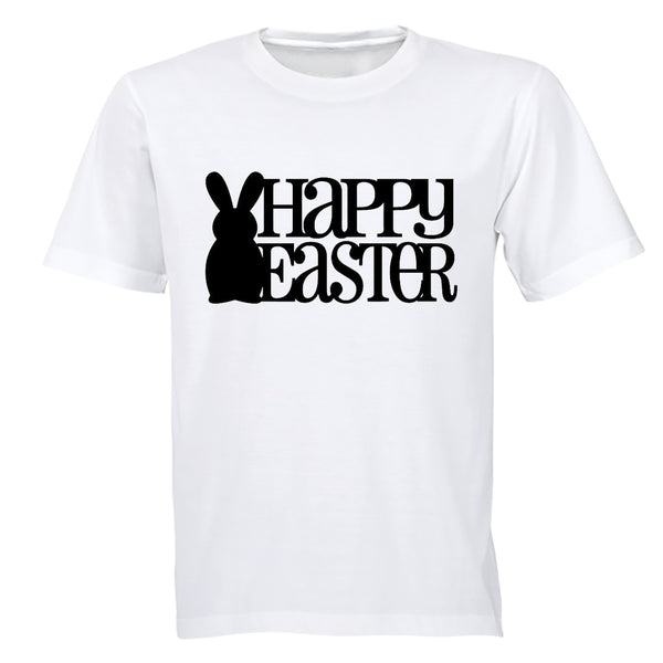 Happy Easter - Bunny Silhouette - Adults - T-Shirt - BuyAbility South Africa