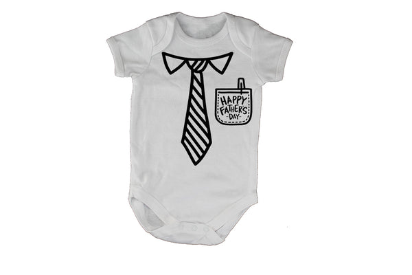 Happy Father's Day, Pocket + Tie - Baby Grow - BuyAbility South Africa
