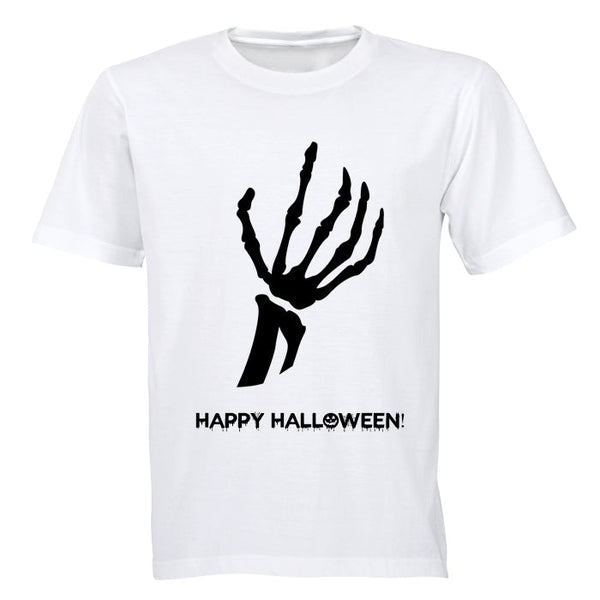 Skeleton Hand, Happy Halloween - Halloween Inspired! - Adults - T-Shirt