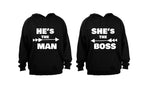 He's the Man - She's the Boss - COUPLES HOODIES (1 SET) - BuyAbility South Africa