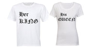 Her King & His Queen - Couples Tees