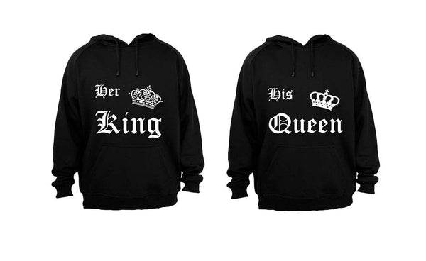 Her King & His Queen - Couples Hoodies (1 Set) - BuyAbility South Africa