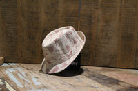 Bowler Hat with Pink Landmarks Print - BuyAbility South Africa