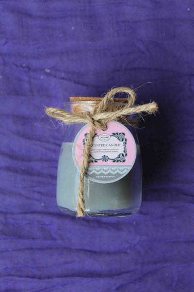 Mini Rustic Scented Candle Jar – Grey, Lavender Aroma - BuyAbility South Africa