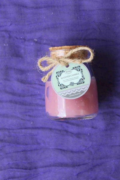 Mini Rustic Scented Candle Jar – Pink, Rose Aroma - BuyAbility South Africa
