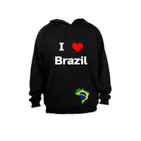 I Love Brazil - Hoodie - BuyAbility South Africa
