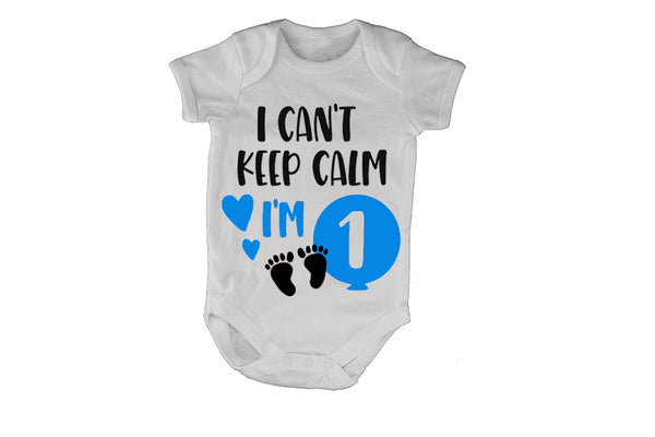 I Can't Keep Calm, I'm 1 - Blue - Baby Grow - BuyAbility South Africa