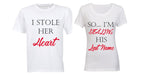 I Stole her Heart... So I'm Stealing his Last Name - Couples Tees