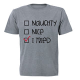 I Tried - Christmas - Adults - T-Shirt - BuyAbility South Africa