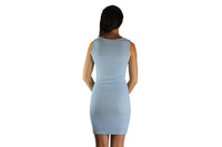Ice Blue Cocktail Dress With Sparkle - BuyAbility