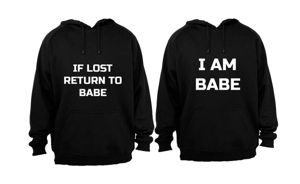 If Lost, Return to Babe - Couples Hoodies (1 Set) - BuyAbility South Africa
