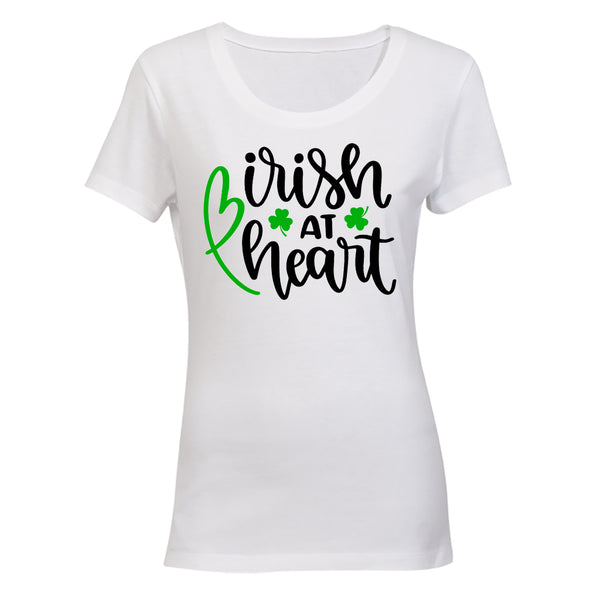 Irish at Heart - St. Patrick's Day - Ladies - T-Shirt - BuyAbility South Africa