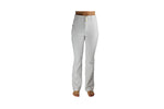 Ladies White Bell Bottom Long Pants - BuyAbility