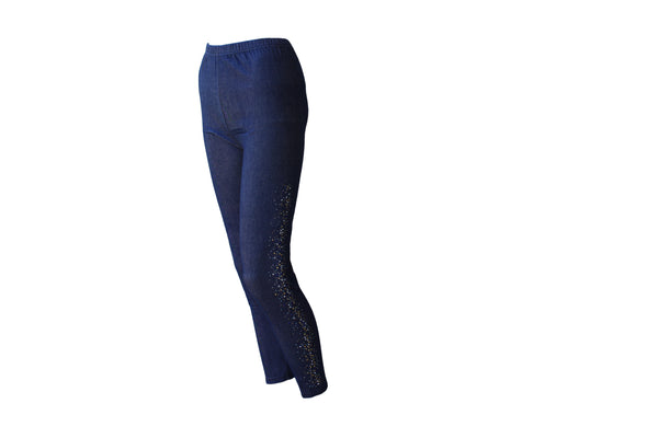 Dark Blue Jeggings With Sparkle