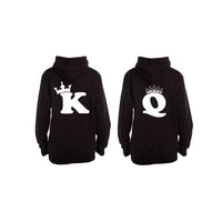 K + Q = King + Queen - Back Print - Couples Hoodies (1 Set) - BuyAbility South Africa
