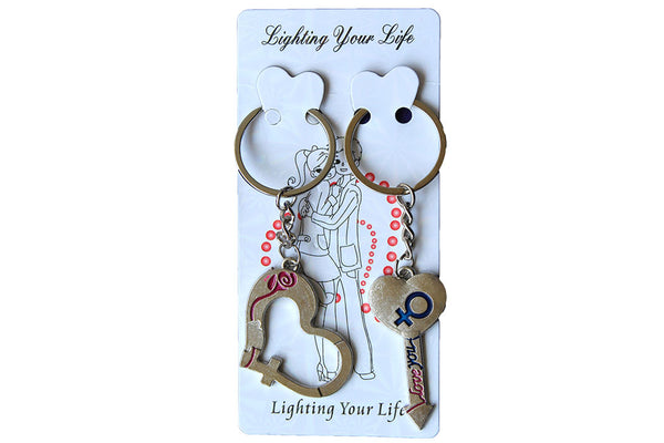 His and Hers Matching Keyrings, with Heart and Arrow - BuyAbility South Africa