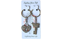 His and Hers Matching Keyrings, with Lock and Key - BuyAbility South Africa