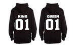 King and Queen 01 - Couples Hoodies (1 Set) - BuyAbility South Africa